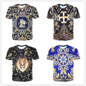 2020 Fashion Design new summer Short sleeve top European American popular printing T-shirt men women couples good quality t-shirt M -3XL
