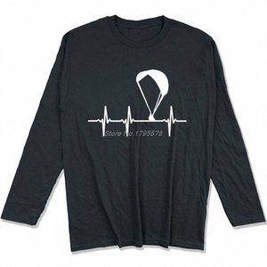 Parapendio Ecg maglietta Primavera Autunno Uomini cotone a maniche lunghe T-shirt divertente Hip Hop Tees Tops Harajuku Streetwear 3Oma #