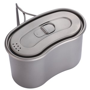 TOAKS Titanium Military Lunch Box Titanium Canteen Cup with Lid Backpacking Titanium Military Pot 950ml T200710