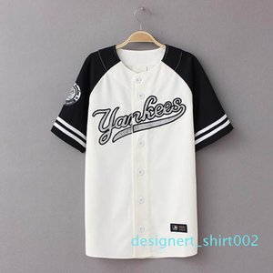 Wholesale-2016 New Summer Hip Hop Sports Fashion Baseball T shirt Korean style Loose Unisex Mens Womens Tee Tops Tide mujeres camiseta d02