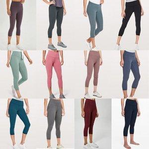 la mujer pantalones de yoga de diseño Wunder Tren de gimnasia icono de entrenamiento lu 25 32 polainas sólida deportes del color del desgaste de la aptitud elástico dama medias 5qsas6aac #