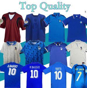 2000 2006 Retro classique 1982 1986 1990 1994 1996 1997 1998 1999 de football maillot Italie totti pirlo MALDINI R.BAGGIO chemise Baresi de football