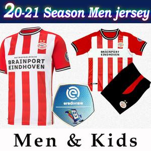 Мужчины ПСВ футбола Джерси дом # 9 Malen # 7 Брума 20/21 Дети Eredivisie лиги футбол рубашка Индивидуального футбол равномерной патч 2020