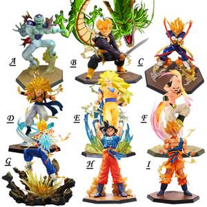 21 centímetros Super Saiyajin 3 Buu vegeta troncos Goku Congelador Shenron Acção PVC Figuras Dragon Ball Z estatueta Collectible Modelo Y200723