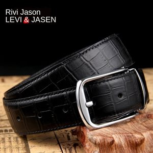 oRMGu male genuine leather youth Pin pin buckle pure cowhide belt top layer cowhide lengthened business formal wear middle-aged trousers be