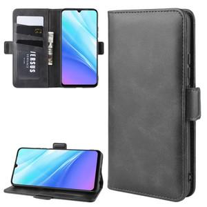 Para Vivo Y7S / iQOO Neo / Z5 Duplo Buckle Crazy Horse Negócios Mobile Phone Holster com função de cartão da carteira Bracket