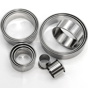 Herramientas al por mayor de la hornada del anillo de la crema batida de acero inoxidable 12pcs / set Ronda de cookies molde del cortador del delicado moldea DIY Gráfico de la galleta DH0641 T03