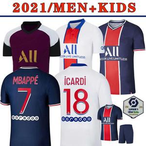 Maillot Paris Jersey 2021 Champion Paris Soccer Jersey MBAPPE ICARDI GANA VERRATTI 20 21 Football Shirt Men Kids Kit maillot de foot