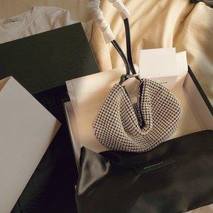 Portable de moda dama de alta calidad sencilla bolsos de mano Serie exquisita gama alta bolsa de galletas flash de perforación