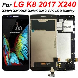 100% Testé pour LG K8 2017 X240 X240H X240DSF X240K X240I PP2 LCD écran tactile Digitizer Assemblée