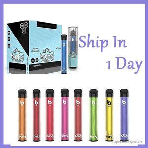 Date Bang XL alimentation jetable de 2 ml vape cartouche de cigarettes 450mAh kit de vaporisation batterie bâton dispositif à vapeur avec 16 couleurs