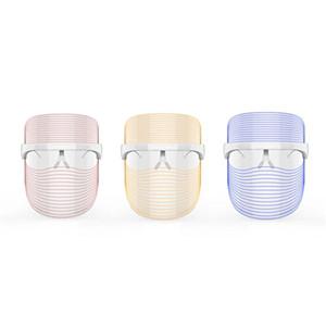 3 цвета светодиодные лица маски против акне Анти морщин лица SPA Инструмент Лечение красоты лица Прибор по уходу за кожей Инструменты