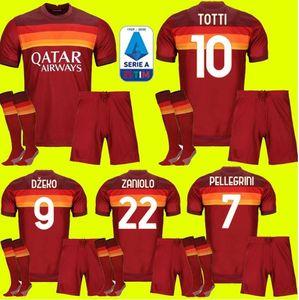 Комплект для взрослых 20 21 ROMA Джерси домой футбол 2020 2021 AS PASTORE Джеко Zaniolo EL Шаарави РИМ маек