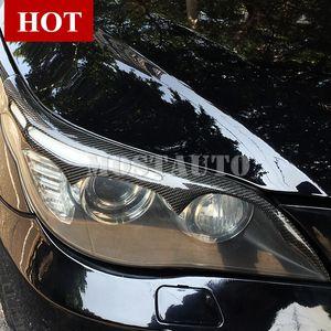 For BMW 5 Series E60 Carbon Fiber Headlight Eye Lid Eyebrow Trim Cover 2004-2010 2pcs
