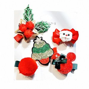 Christmas Theme Character Design Hair Clip Lovely Headwear Hair Clip Party Decorations Hairpin Accessories For Girls HvM1#