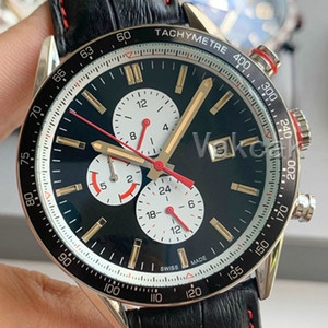 Cuero de la nueva manera de los hombres automático Mecanismo de relojería Negro Top Sports Business mismo-viento relojes de diseño de pulsera profesionales