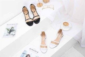 Spring and summer new women s sandals explosion models diamond edge leather flat shoes white black transparent  designer shoes