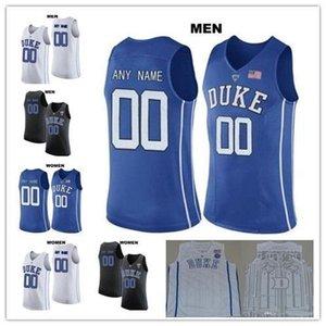 Benutzerdefinierte Duke Blue Devils 1 Trevon Duval 3 Grayson Allen jeder Name eine beliebige Anzahl Blank NCAA Mens College Basketball genähten Jersey