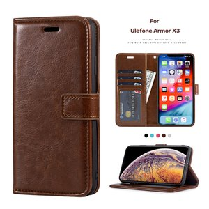 PU Leather Flip Case For Ulefone Armor X3 Card Holder Silicone Photo Frame Case Wallet Cover For Ulefone Armor X5 Business Case
