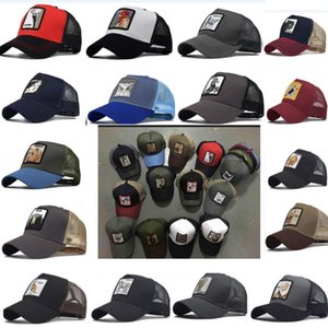 New Summer Trucker Hat Snapbacks Animal Embroidery   Designer Curved Mesh Baseball Cap For Adults Mens Womens Sun Visor Party Hats HH9-2230