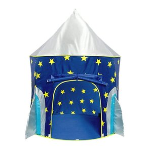 Spaceship Playhouse for Kids with Bonus Space Torch Projector Toy Space Playhouse for Boys & Girls Ocean Game Ball Pool