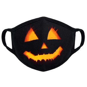 Expédition gratuite Halloween conception 3D d'impression citrouille motif sur le masque d'oreille en tissu Caractériser pour adultes