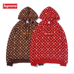 18S FW París clásico Corona de la bandera del bordado de la sudadera con capucha de la calle Hombres Mujeres Sudaderas sudaderas con capucha otoño invierno suéter Outwear HFYMWY 2020-H50