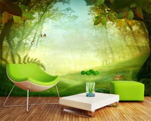 Personalizado Floresta de fantasia em 3D Wallpaper Bela Forest Nature Sala Quarto Wallcovering Wallpaper HD