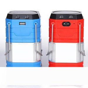 New Solar LED Camping Light Rechargeable with USB foldable camping light UltraBright LED Portable Lantern Lamp in Outdoor Lighting