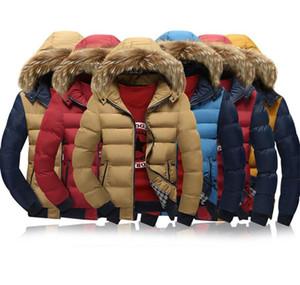 Kontrast-Farben-Männer Designer-Jacke beiläufige starke warme lange Hülse mit Kapuze Mantel Hut Abnehmbare 20FW Herren-Oberbekleidung