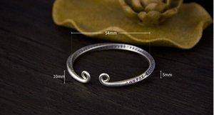 Sterling Silver 990 braccialetto delle donne aperto ad anello d'oro del bastone di gioielli come Sterling Silver 990 stretto cerchio di modo di fascino minimalista stile Br SJHj #