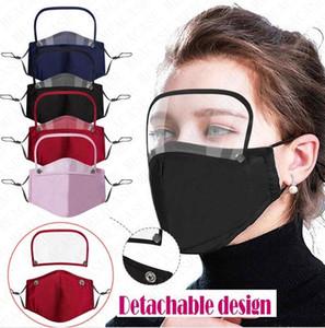 Cotton Entlüfterventil Männer Frauen Vollmasken mit Filter Staubdichtes Breath abnehmbare Gesichtsmaske Abdeckung Boutique 4color D71507