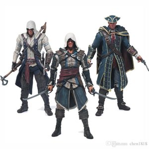 Assassin's Creed 4 Black 6 inch action figure toy Figurine Macfarlane Edward Ken Vee Connor ornaments