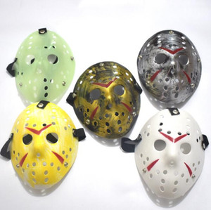200pcs Archaistic Jason Mask Full Face Antique Killer Mask Jason vs Friday The 13th Prop Horror Hockey Halloween Costume Cosplay Mask#28318