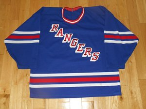 Custom Jersey Vintage 1980s GERRY CROSBY NEW YORK RANGERS Mens Hockey Jerseys Blue Stitched CCM Any Name Your Number Size S-6XL