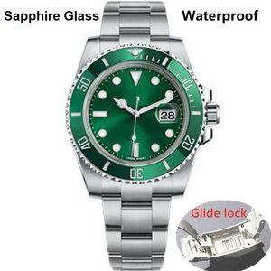 3A + Glide Lock superior de cerámica bisel de zafiro para hombre 2813 Movimiento mecánico automático del reloj impermeable 116610 hombres relojes de pulsera Negro sub