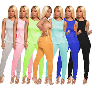 womens two piece set tracksuit T-shirt pantsuit outfits sportsuit casual tees tops new hot selling casual solid summer women clothes klw4421