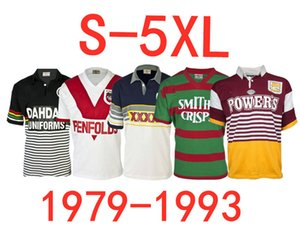 1979 St George Illawarra Dragones 1993 Brisbane Broncos 1989 Sur Sydney Rabbitohs 1991 Penrith Panthers tamaño RETRO Jersey de rugby S - 5XL