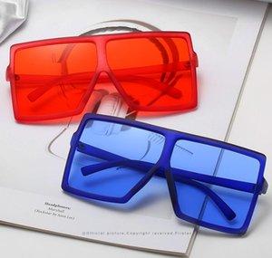 Fashion Glasses Brand Frame New Oversized Women Sunglasses Big Shades Square Gradient Designer Vintage Sunglasses Sunglass Mlsrv