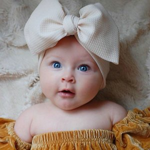 Fashion Baby Girls Big Bow Headbands Elastic Bowknot Hairbands Headwear Kids Headdress Head Bands Newborn Turban Head Wraps Wkha01 uppot