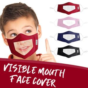 Visible boca cara cubierta sordomudo Máscaras de diseño anti de la niebla máscaras transparentes Kid adultos de algodón a cuadros del polvo anti DDA159 Máscara