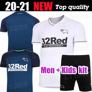 uniforme 20 21 Derby County PATERSON DOWEL maglie calcio 2020 Kit Casa lontano SAGGEZZA Waghorn MARTIN camicia di calcio HAMER ROONEY calcio