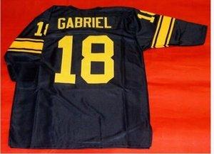 Coutume Men # 18 ROMAN GABRIEL CUSTOM 3/4 MANCHE College taille Jersey s-4XL ou sur mesure tout maillot de nom ou le numéro