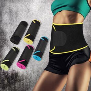Da cintura Trimmer Belt Peso Faixa de Suor Enrole a gordura da barriga Estômago Sauna Suor Belt Esporte Seguro Acessórios Suporte cintura