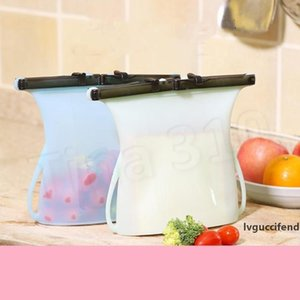 Home 1000ml Foldable Silicone Food Preservation Bag Reusable Sealing Storage Container Food Fresh Bags Vegetables tools Food Savers T2I5153