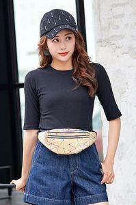 Women's Personality Laser Colorful Sports Multi-layer Waist Bag 2020 New Diamond Lattice Cross-body Chest Bag Free Shipping