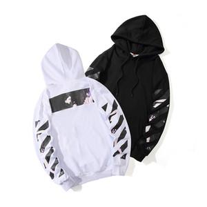 mens offwhite designer sweatshirt hoodies hommes à rayures en vrac flèche imprimée en coton femmes designer hoodie à capuche taille de vêtements de haute qualité M-2XL