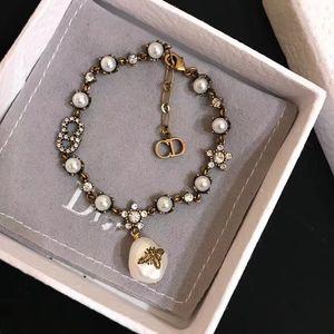 Faddish D home Pearl bee CD women's ornaments High version Charm Bracelets Hot Sale