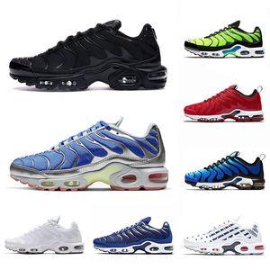 Nike Air Max Airmax Plus Tn SE 2020 Des Chaussures Tn Plus SE Hommes Baskets Coussin Chaussures de course Triple Noir Bleu Argent Tns Hyper Blue 3D Lunettes Chaussures sport 40-46