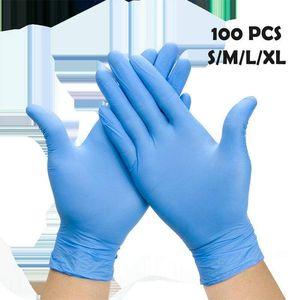 100 Pcs Disposable Gloves PVC Gloves Comfortable Nitrile butadiene Gloves Free Ship